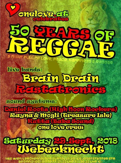 50 YEARS of REGGAE Party 29.9. @ Weberknecht
