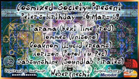 Cosmixed Society presents: Peter's Birthday