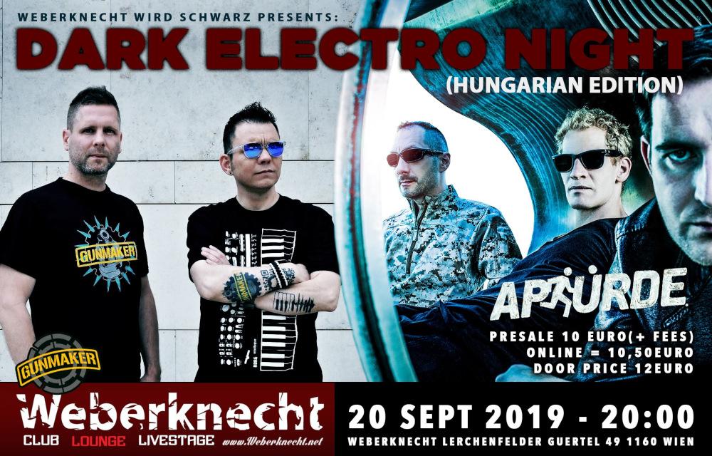 Gunmaker (HU - Dark Electro/Electro-Metal), Apsürde (HU - Synth-Pop/Dark Electro)