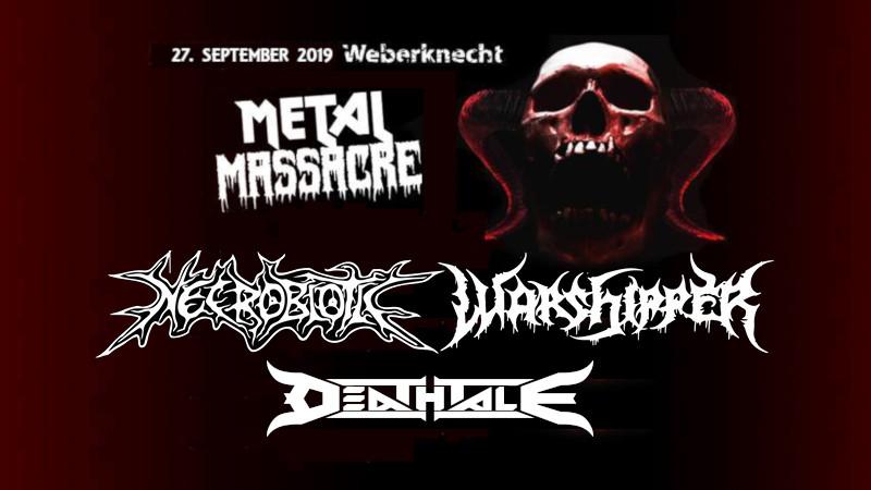 Freitag 27.9. Live: Necrobiotic (BRA), Warshipper (BRA), Deathtale