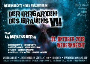 Fr 31.10.2019 DER IRRGARTEN DES GRAUENS #7 ft. La Burlesqueria