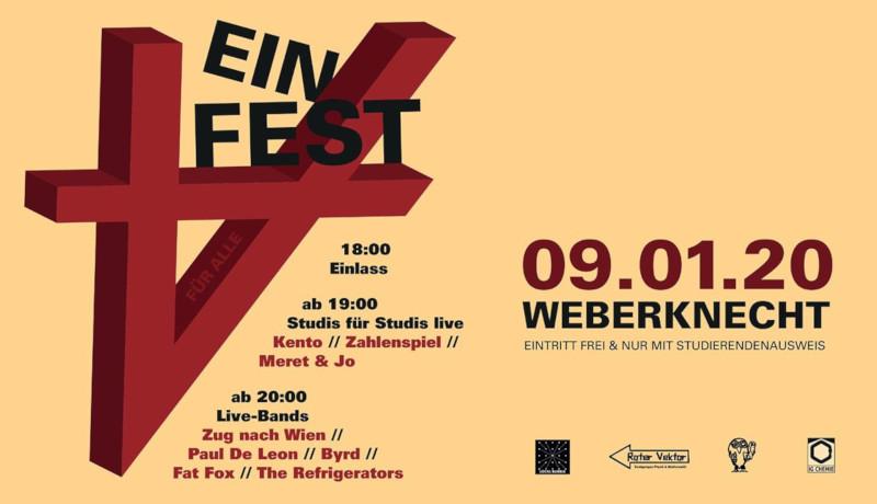 Do 9.1.2020 Ein Fest für alle (Studierenden-Party)