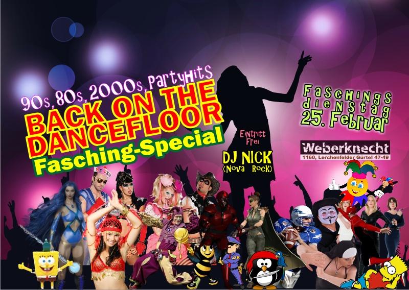 Di 25.2.2020 Back On The Dancefloor Special mit DJ NICK (Nova Rock)